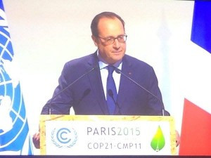 French President Francois Hollande at Leaders Event