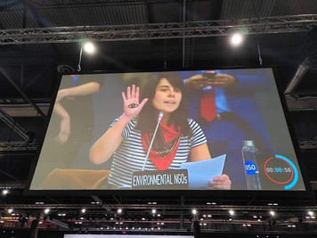 Angela Valenzuela at the Opening Plenary of COP25