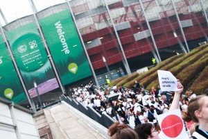 Civil society walk-out