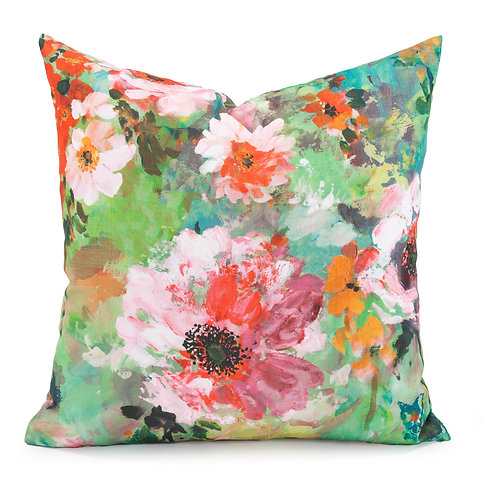 "Kenneth Ludwig Chicago 20x20"" Throw Pillow- Juliet Floral"