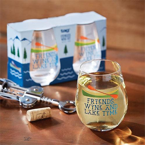 Freinds Lake Time Glasses Set/2
