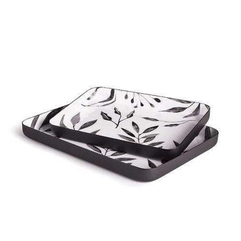 Leaf Rectangle Trays - Set of 2