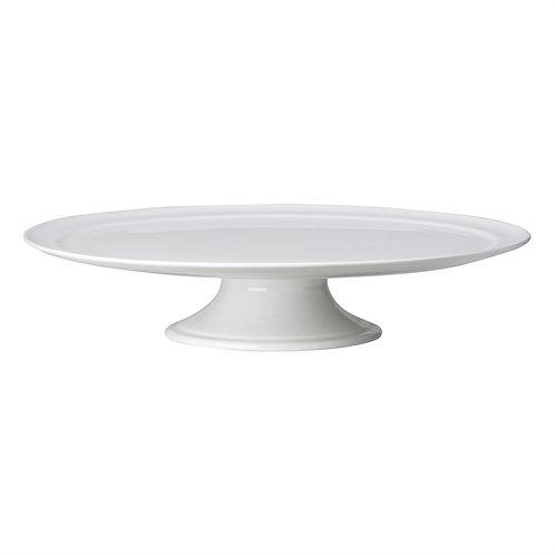 Whiteware Pedestal Cake Plate