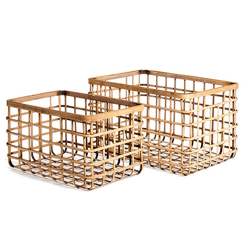 RIVER BAMBOO BASKETS, SET OF 2
