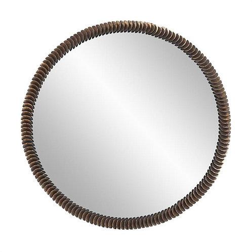 Coined Round Mirror