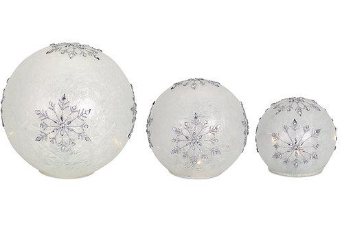 Snow Flake Snow Balls - Set/3