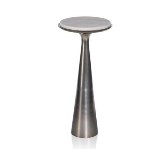 Funnel Metal/Marble Drinks Table