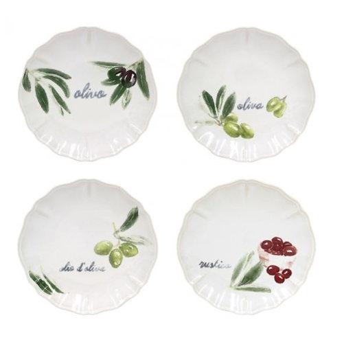 Casafina Olivia Appetizer Plates S/4
