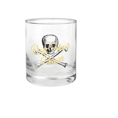 Pick Your Poison Rocks Glass