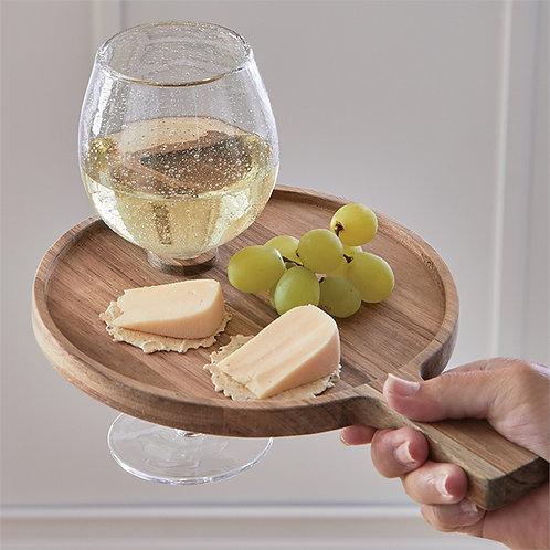 Acacia Wood Wine Glass Tray