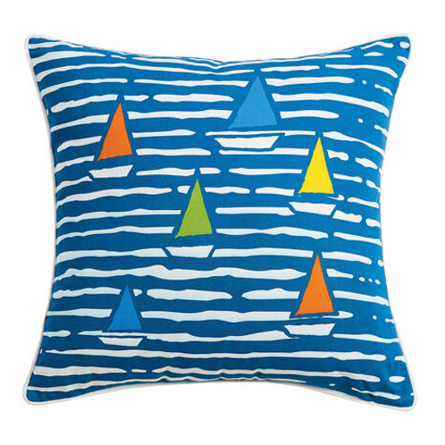"""Waterline Boats Cotton 20"""" Pillow"""