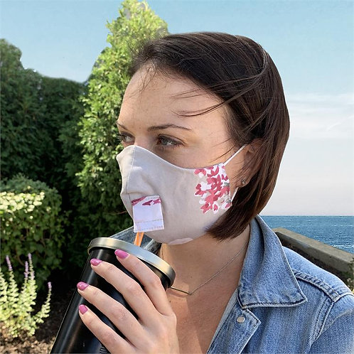 Pink Floral Happy Hour Mask