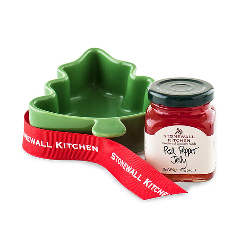Red Pepper Jelly & Tree Ramekin