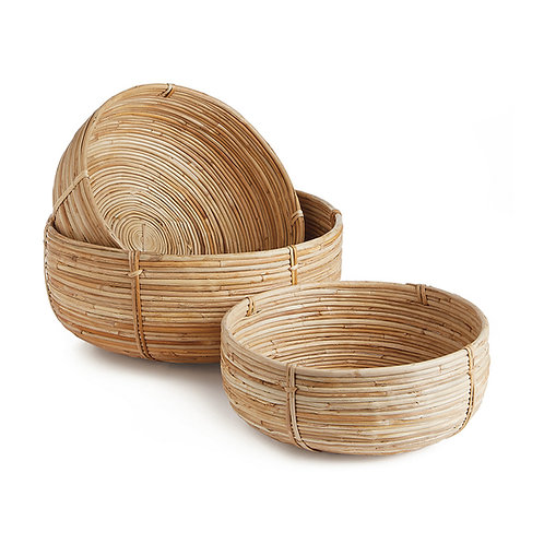 CANE RATTAN RD TAPERED BASKETS ST/3