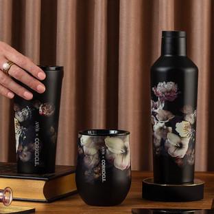 Black Floral Corkcicle