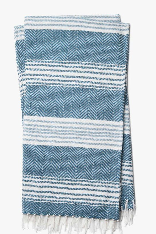 Wreen Woven Blue & White Throw