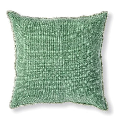 Green Woven Fringe Euro Pillow