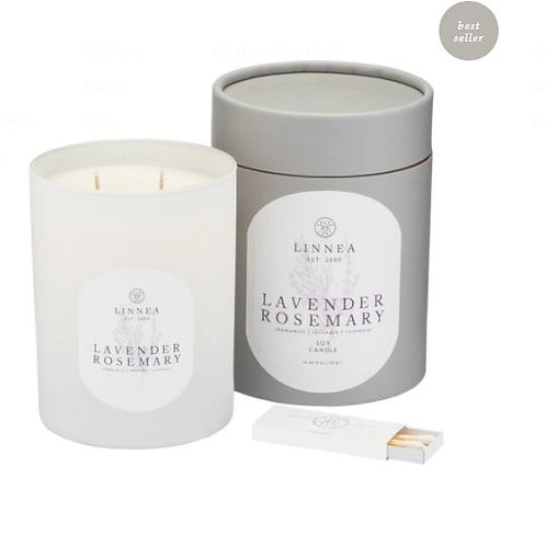 Linnea Lavender Rosemary 2 Wick Candle