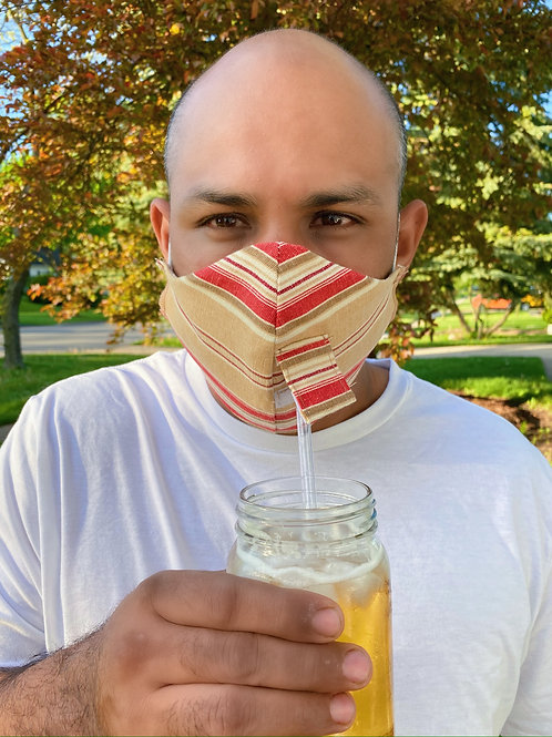 Yale Stripe Happy Hour Face Mask