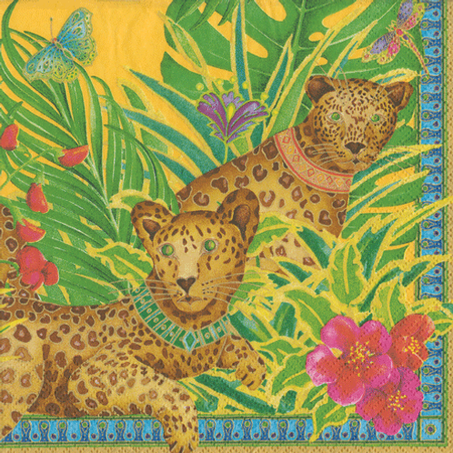 Leopards Cocktail Napkins