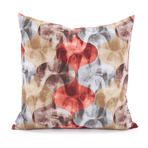 """Kenneth Ludwig Chicago 20x20"""" Throw Pillow- Gabbana Rave Red"""