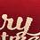 Thumbnail: Merry Christmas Jersey Fabric Pillow