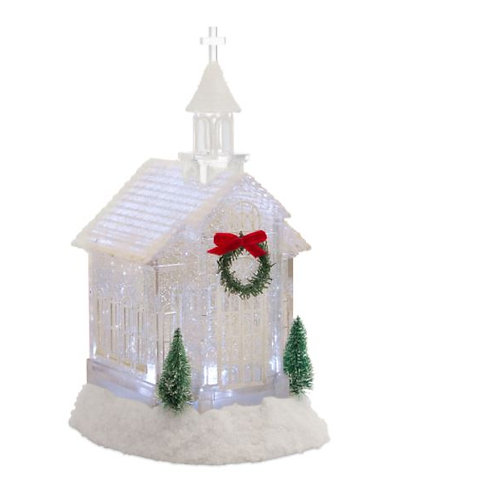 Clear Church Snow Globe