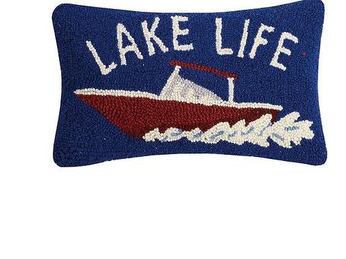 Lake Life Hooked Pillow