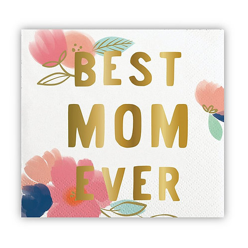 Slant Best Mom Ever Cocktail Napkins