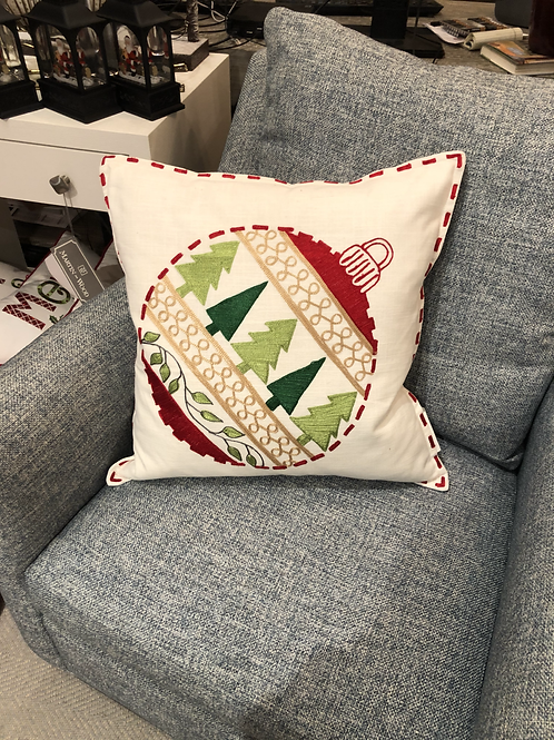 "Embroidered Ornament 22"" Sq. Pillow"