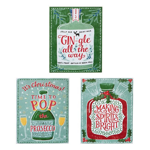 Christmas Holiday Signs - Set of 3