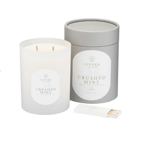 Linnea Crushed Mint 2 Wick Candle