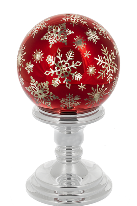 Twinkle Snowflake Ball On Stand - Small