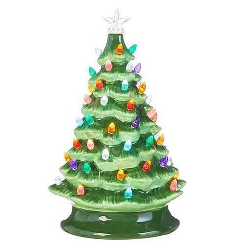 Ceramic Lighted Christmas Tree - Large
