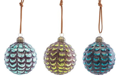 Pine Cone Balls - Set of 3