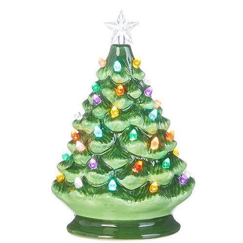 Ceramic Lighted Christmas Tree  - Small