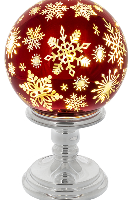 LED Snowflake Ball On Stand - Large