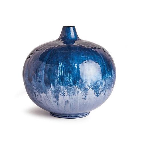 Azul Small Enamel Vase