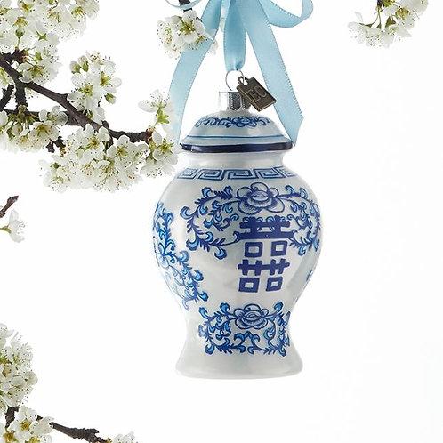 Chinoiserie GingerJar Ornament