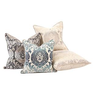 Howard Elliott Damask Pillows