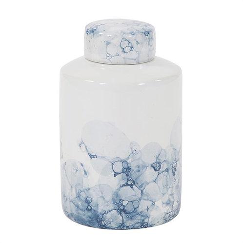 Blue & White Porcelian Tea Jar - Large