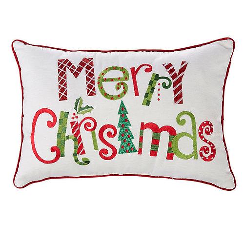 Merry Christmas Bolster Pillow