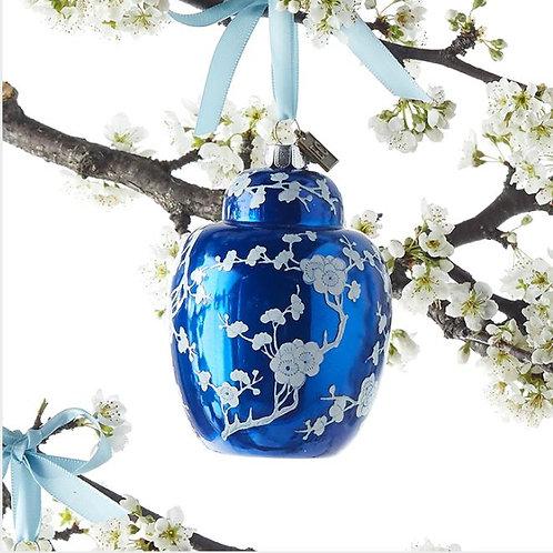 Chinoiserie Blue Jar Ornament