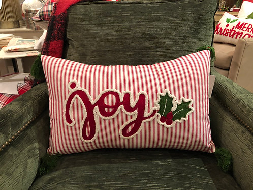 Embroidered JOY Lumbar Pillow