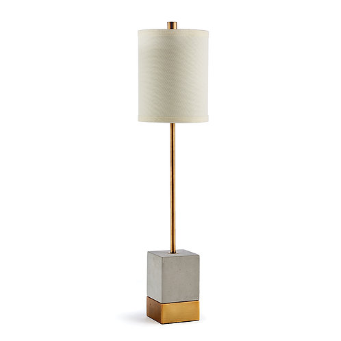 SARA CEMENT & BRASS SIDEBOARD LAMP