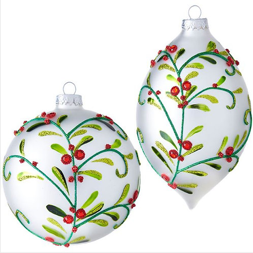 Mistletoe Ornaments - Set of 2