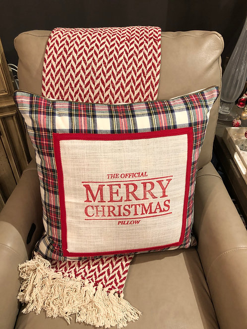 The Official Merry Christmas Pillow