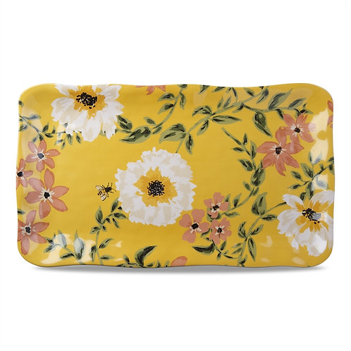 Bee & Floral Melamine Tray