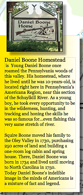 Daniel Boone Homestead on the susquehanna river pennsyvania