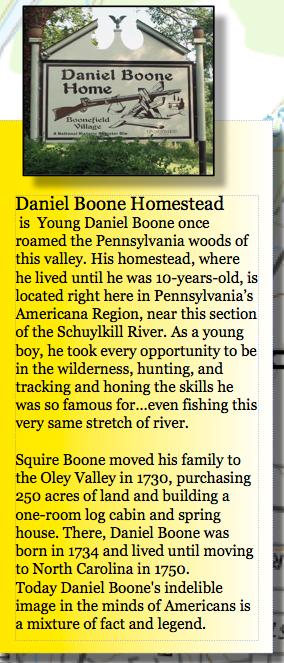 Daniel Boone Homestead on the susquehanna river pennsyvania